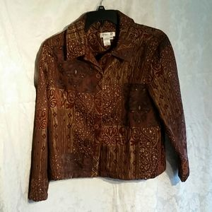Coldwater Creek Tapestry unlined Jacket Petite XL